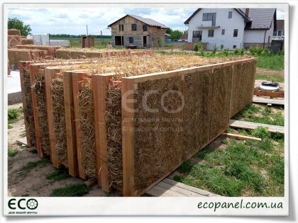 Соломенные экопанели - Ecopanels of rye straw and reed